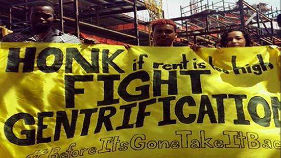 Anti-Gentrification Protest by Residents of Flatbush, Brooklyn