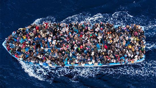 A Typical Boat Carrying Migrants Across the Mediterranean (source: