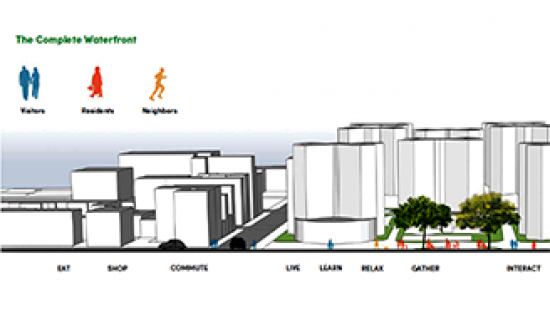 Accessibility rendering from CRP group project, Splintering Urbanism