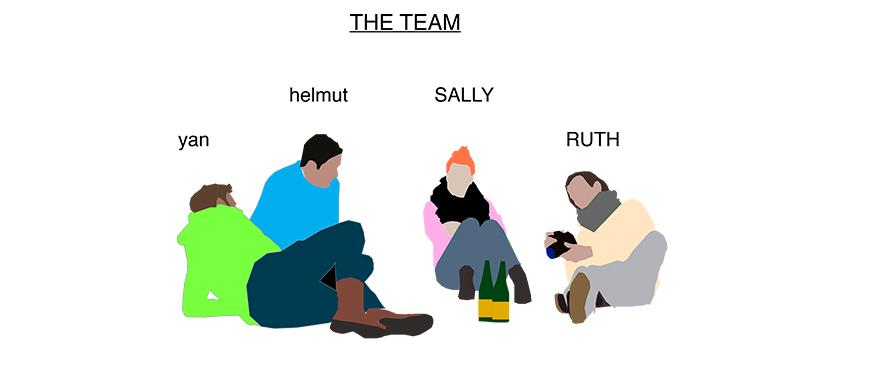 Image of four people from a graphic novel under the heading