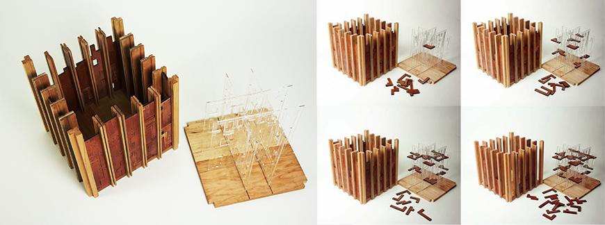 wooden model and a wooden game