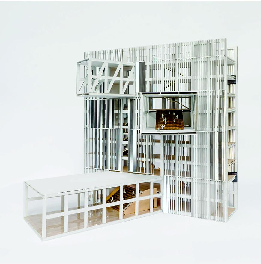Physical model of a multistory building.
