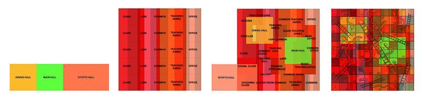 Program diagrams in red, green, and orange.