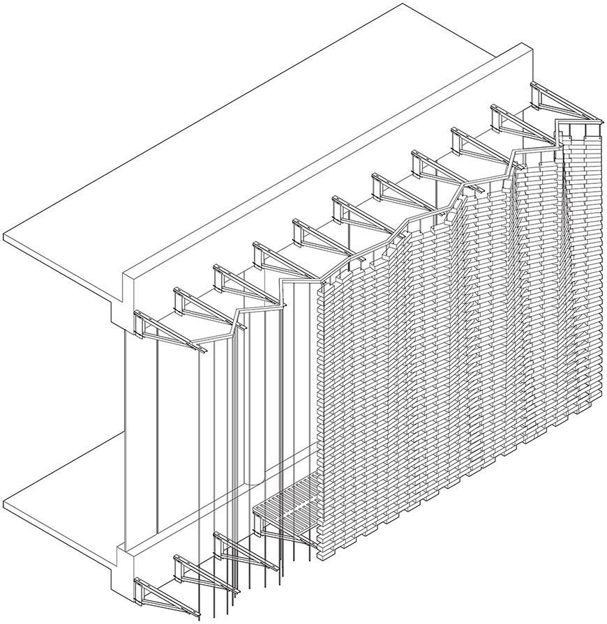 Brick structure.