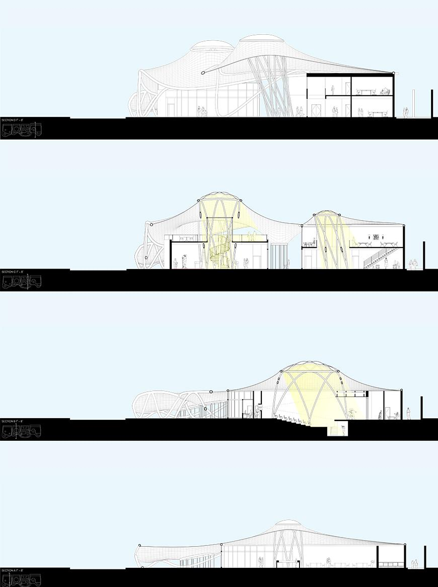 Section drawings.