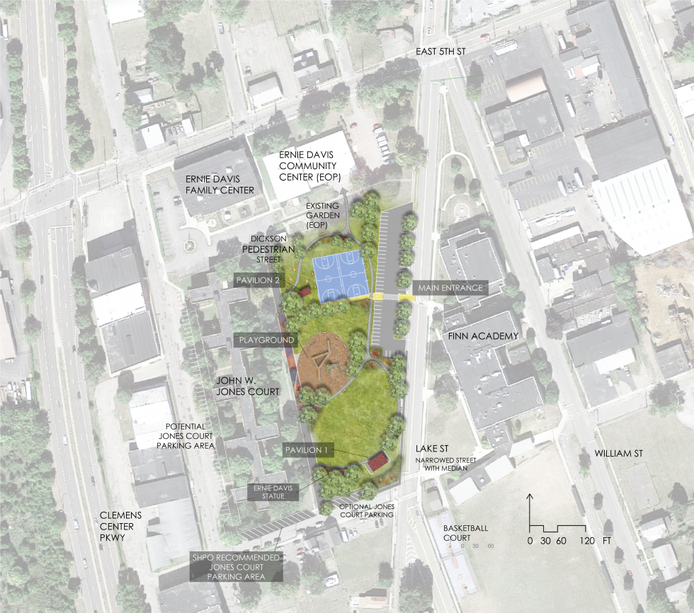 Final site plan of proposed improvements