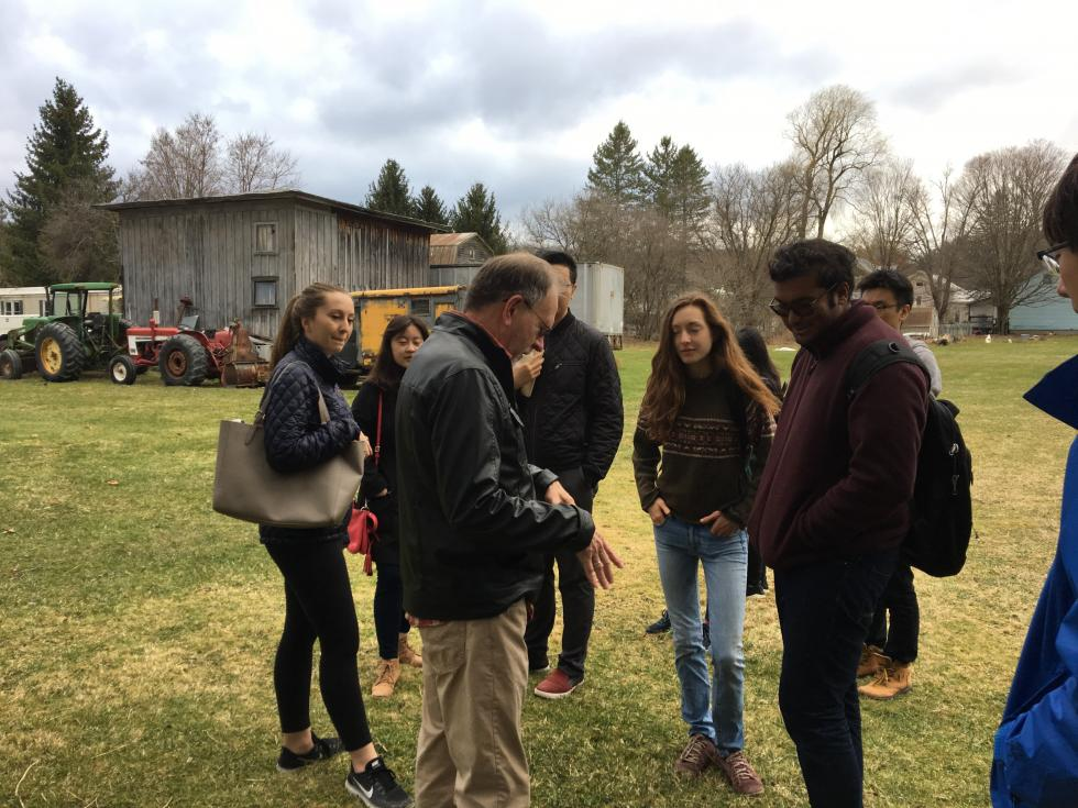 Students visit the George M. Smith Park for a site visit.