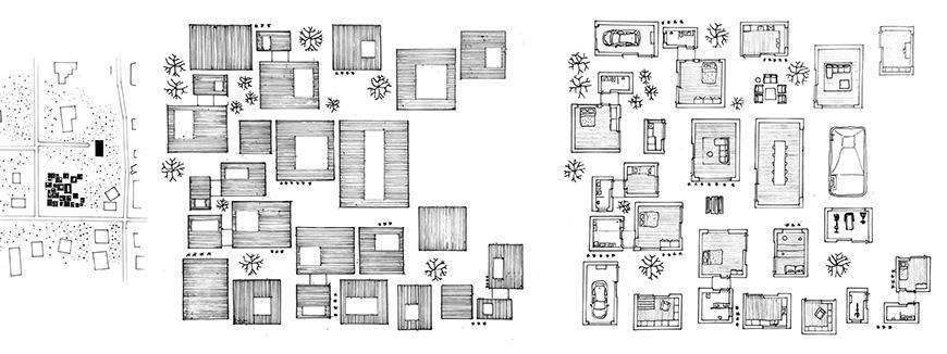 Drawn overhead architectural plan.