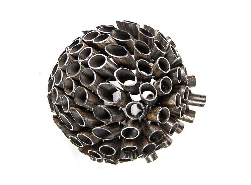 Sphere made of tubes.