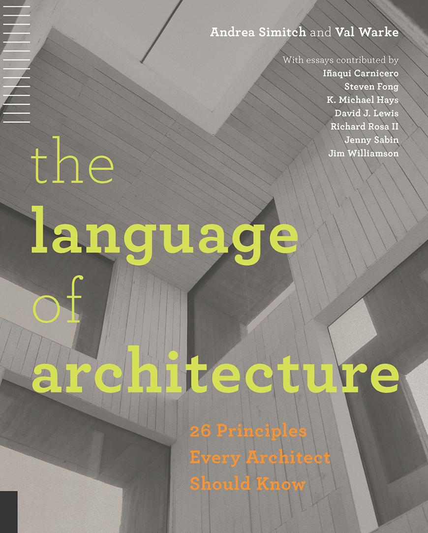Book Cover The Language of Architecture showing a geometric interior
