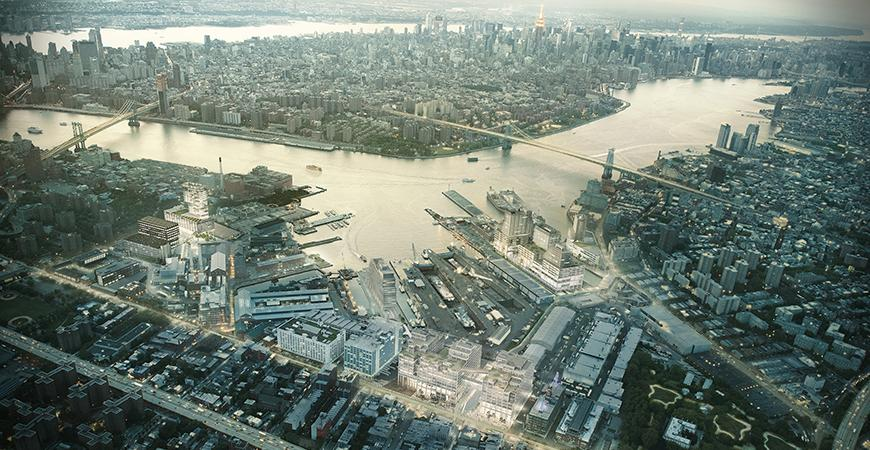 aerial view of Brooklyn Navy Yard
