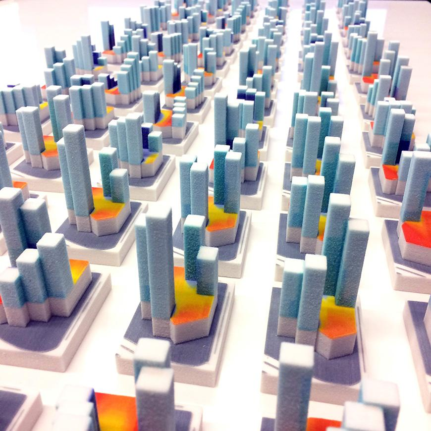 Photo of city architectural model