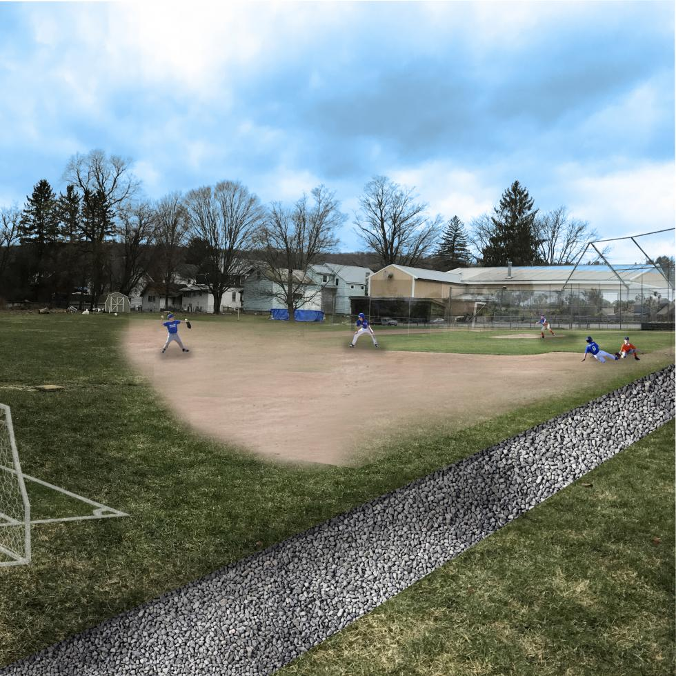 Baseball Diamond proposed on North East side of the Park.