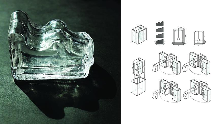 A clear glass mold.
