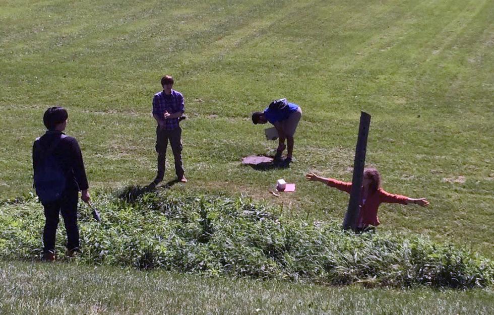 Savannah site drainage testing.