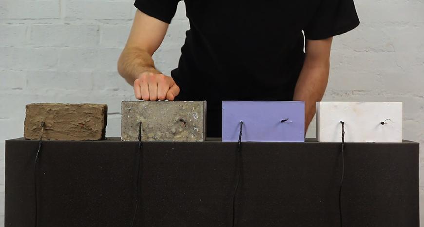 Brad Nathanson demonstrating Brick Instruments.