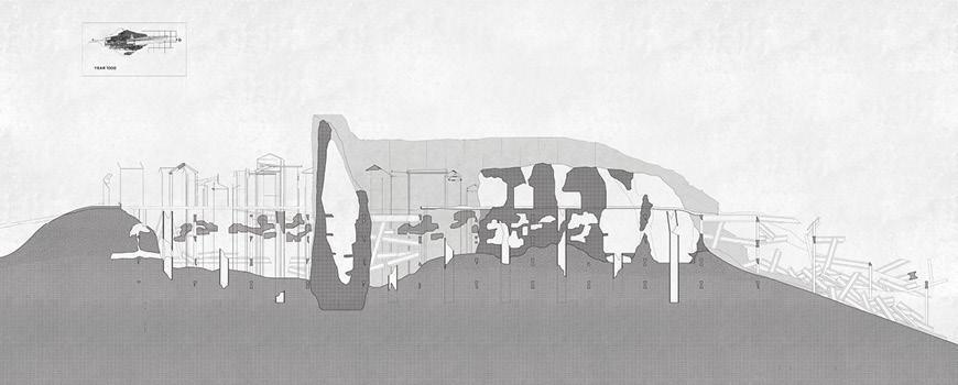 Rendering of outdoor structure.