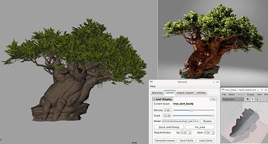 DreamWorks foliage toolset, Jeff Budsberg creator.
