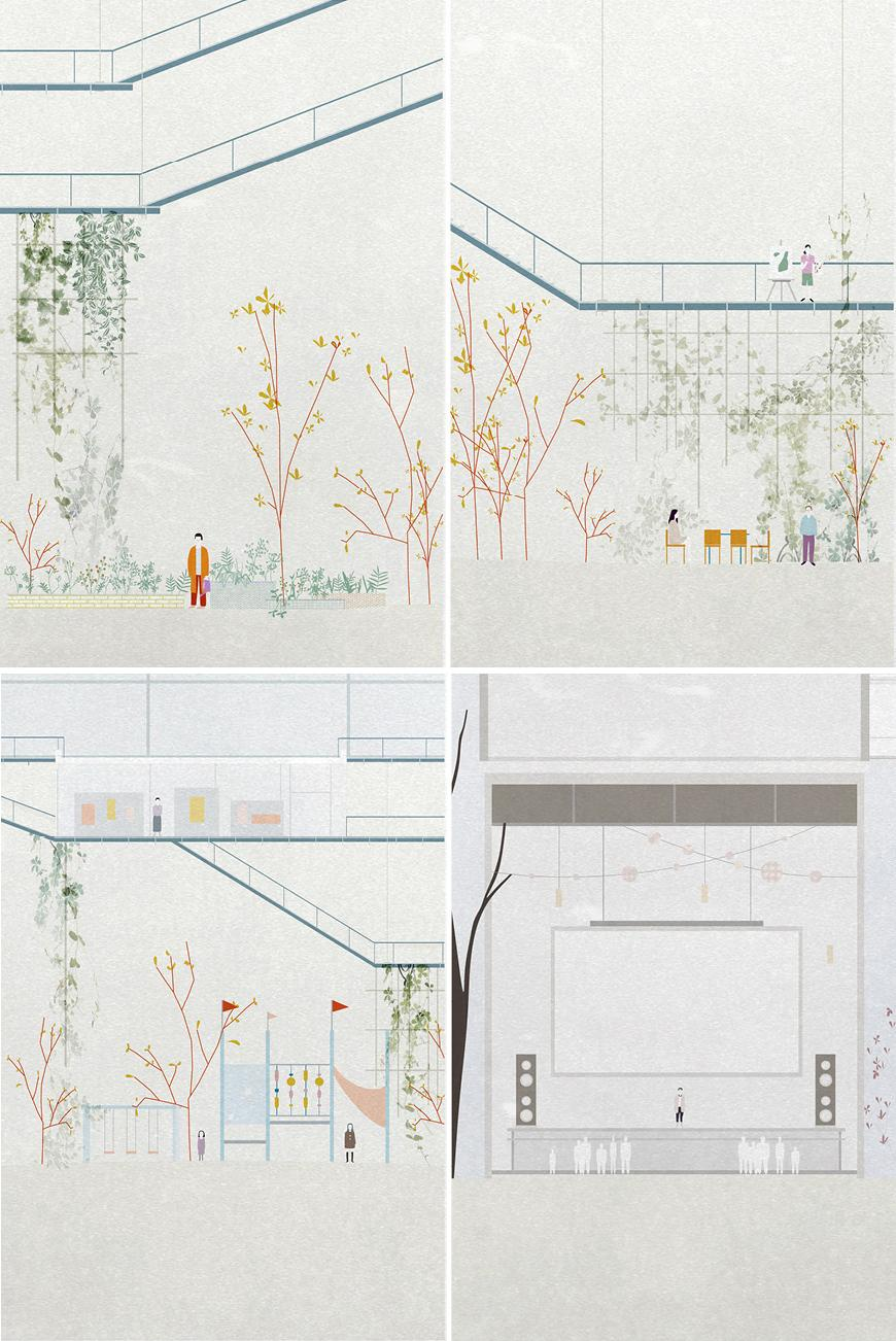 Four site drawings.