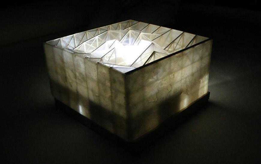 Cube shaped model.