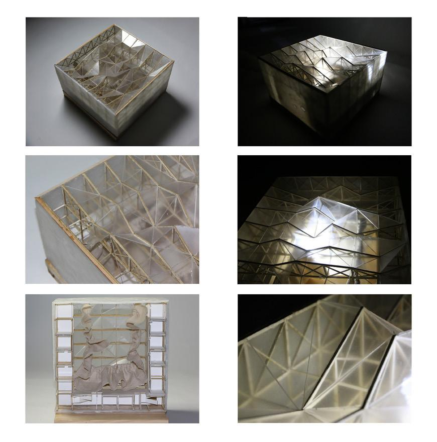 Six views of cube shaped structure.