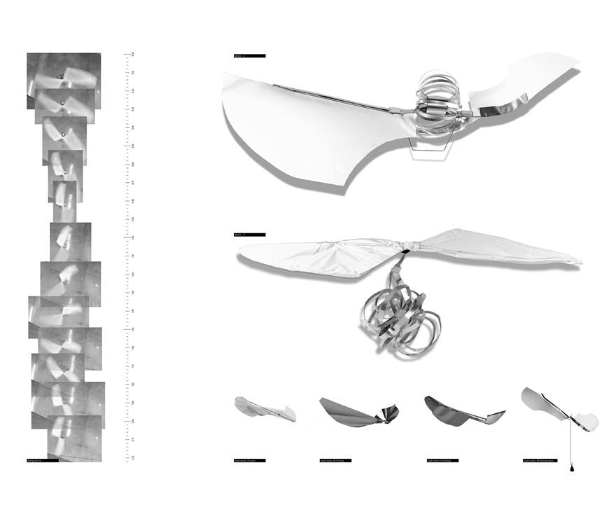 Several renderings to depict the movement of a form.