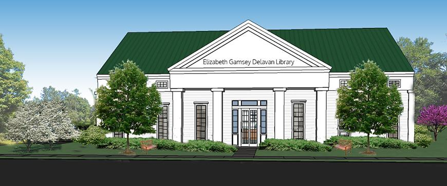 Rendering of library