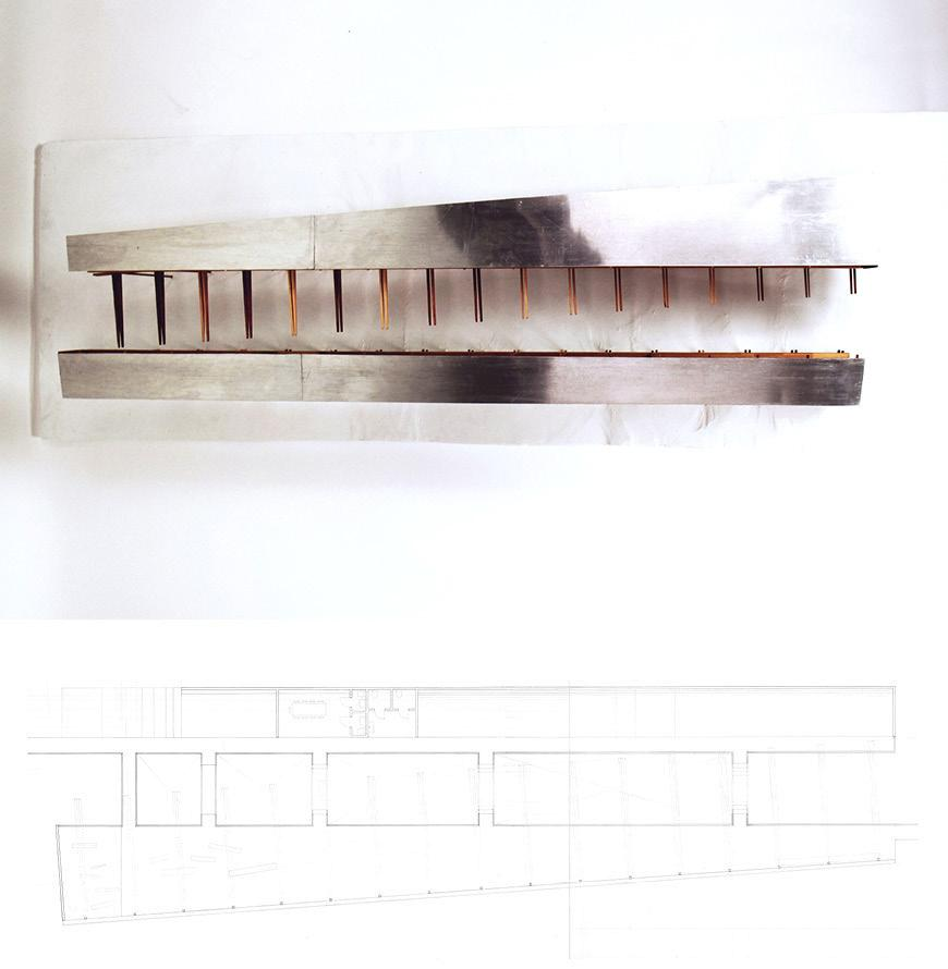 Drawing of model section study.