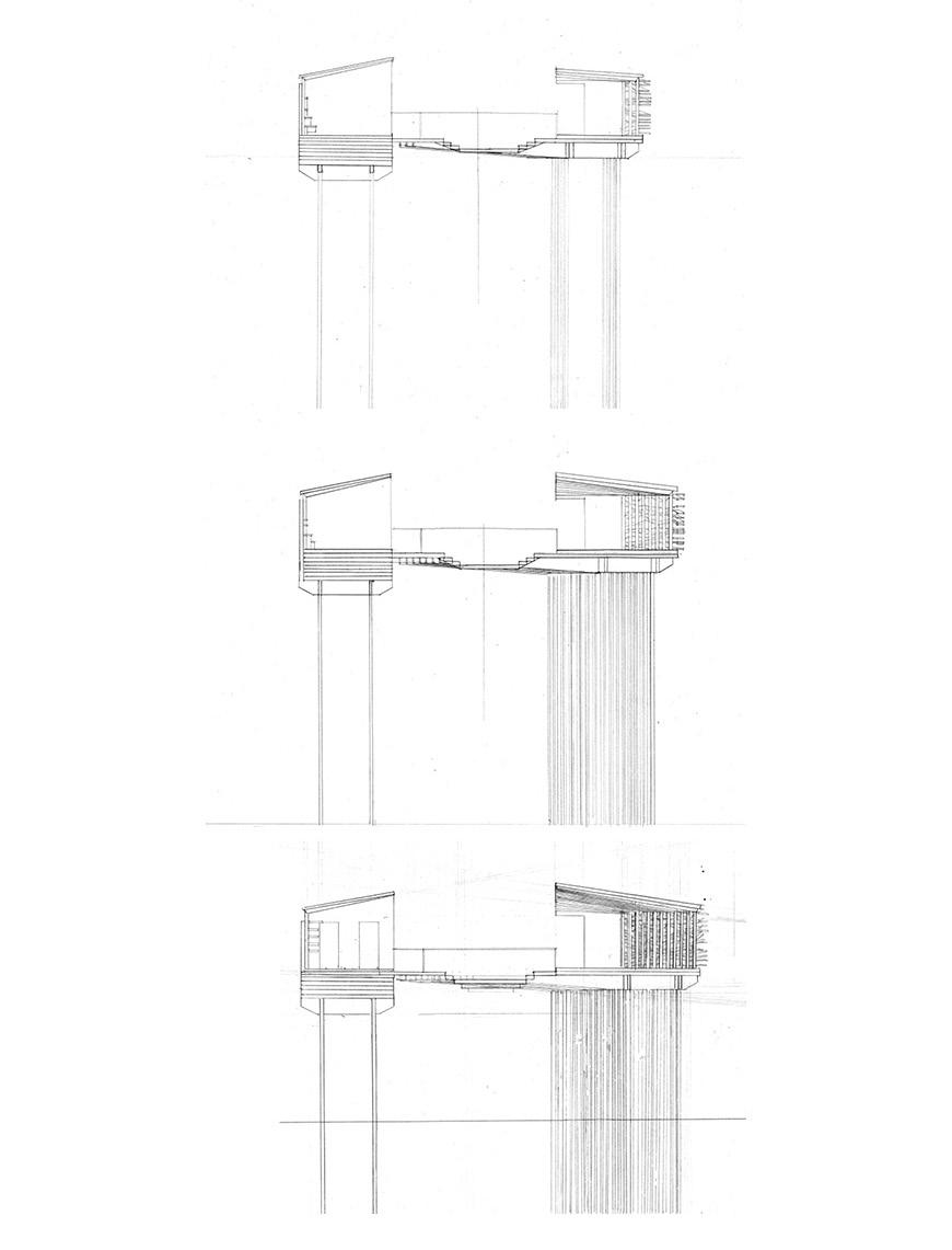 Three short section drawings.