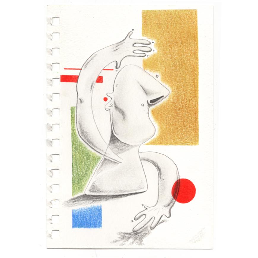Abstract drawing of a human.