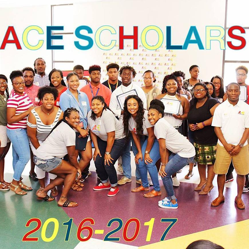 Group photo of teenagers posing