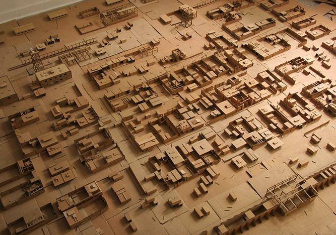 Ashkin: Hiding places are many, escape only one (2007–08), cardboard, dimensions variable