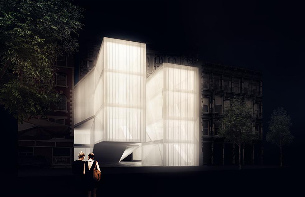 Rendering of Problem no.3 LARGE; Museum by Hyemin Jang