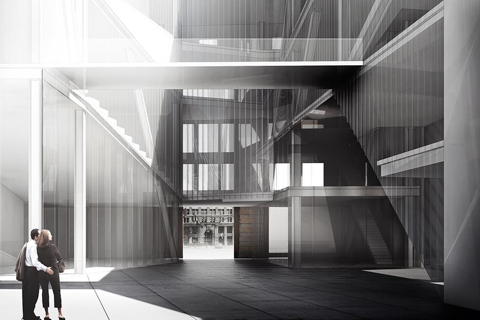 Exterior Rendering of Problem no.3 LARGE; Museum by Hyemin Jang