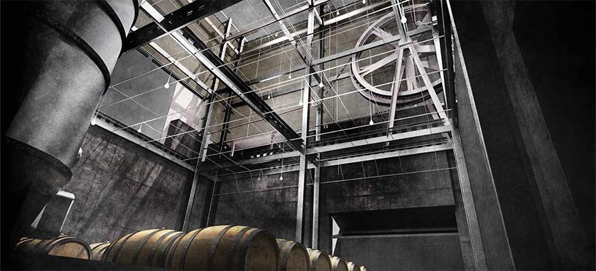Rendering of Trailer Park Winery by James Blair