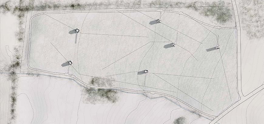 Site Plan for Trailer Park Winery by James Blair