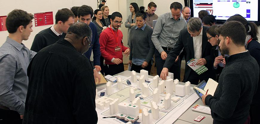 Guest jurors collaborate on development decisions for Envision Baruch planning model