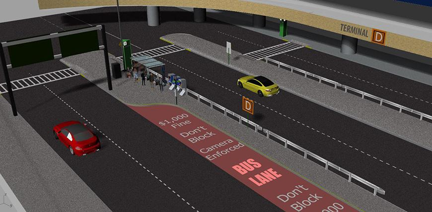 Airport enhancements rendering