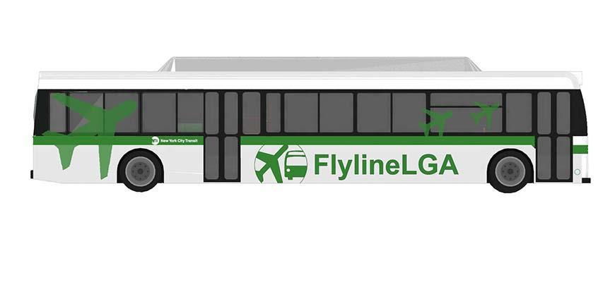 Rendering of FlyLine LGA Branding