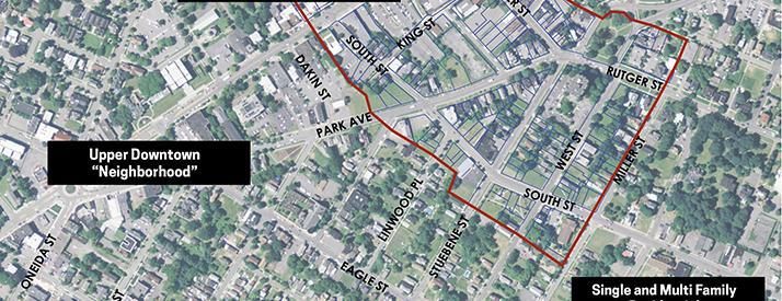 Map showing downtown study area context.