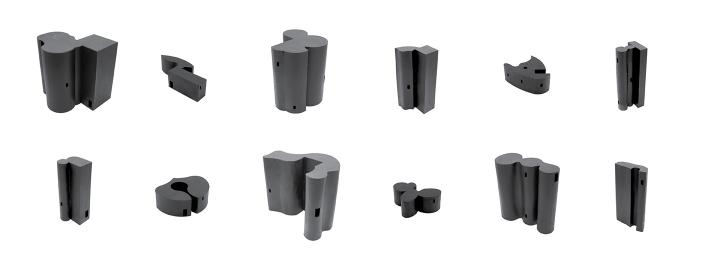 Study models of traced images into black extrusions.