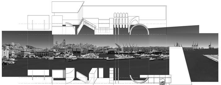 Digital rendering of a waterway in Venice, Italy,